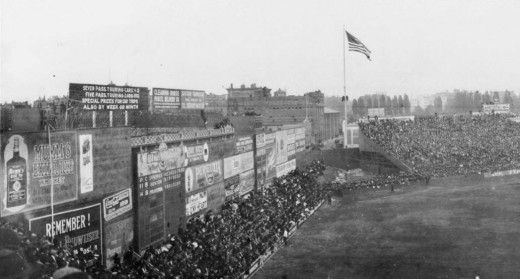 This picture depicts the Green Monster as it lied in its original form which was anything but green.