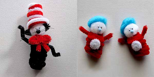 Make these fun characters with items around the house.