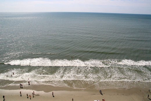 The view from our oceanfront condo in Myrtle Beach