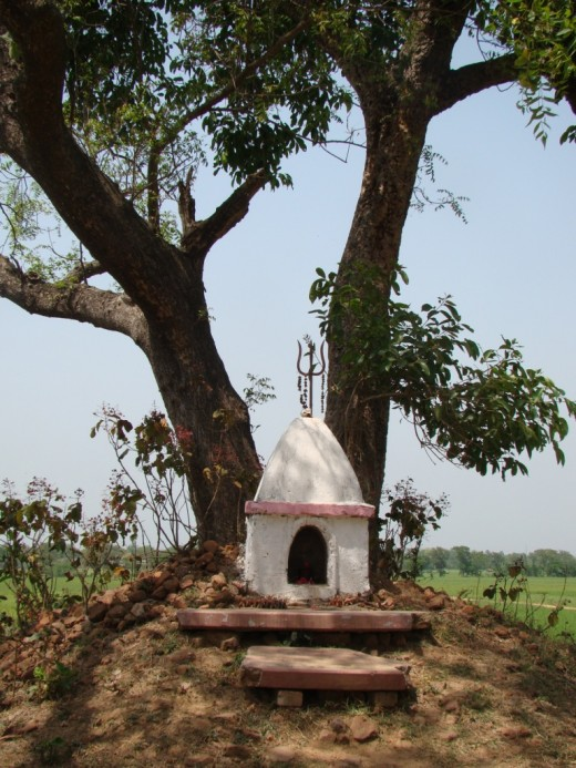 Another view of Baro Kona Deul, Panchthupi