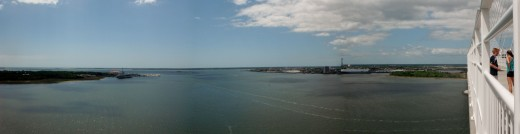 View from the top of Ravenel Bridge
