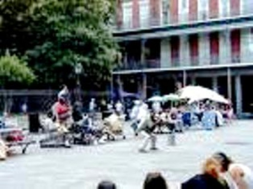 Tarot Readers on Jackson Square.