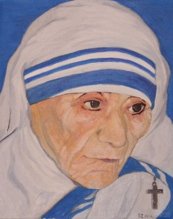 Mother Teresa; an angel helping the poor