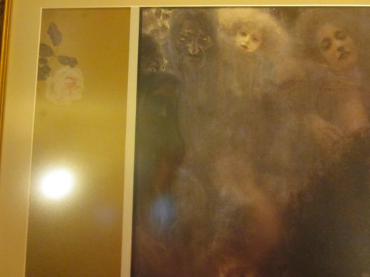 "This is a photo of print of Gustav Klimt's ""L'Amour"" (Love) that hangs in my living room."