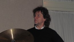 The awesome drummer Marcello, with the Vana Gierig Trio