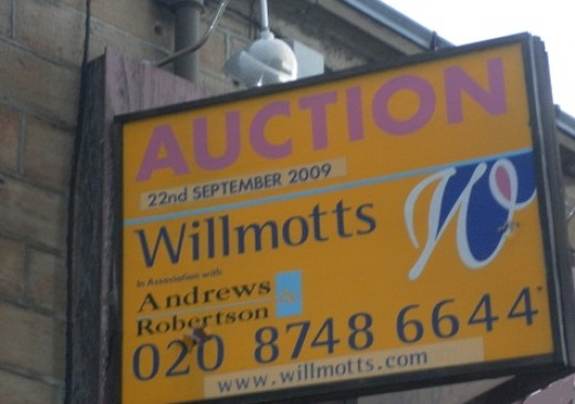 Be observant travelling around your local  town and you will see home auction signs attached to properties