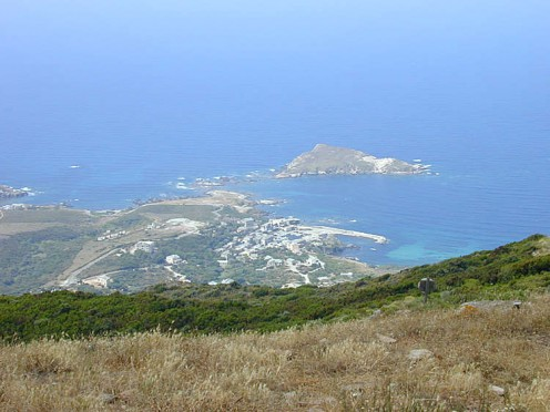 Looking over the Mediterranean and Centuri Port from just above Cannelle.