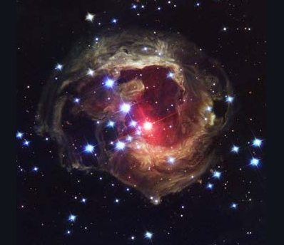 Light Echoes From Red Supergiant Star V838 Monocerotis – October 2004