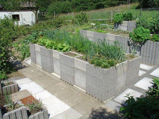 Concrete raised bed