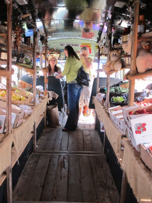Inside Farm2Family Bus