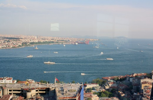 The Sea of Marmara beyond the Golden Horn, from Hotel Marmara
