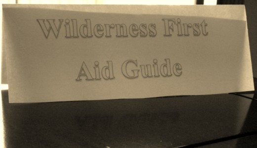 Homemade user guide for a wilderness first aid kit