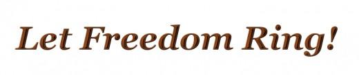 Freedom word art.