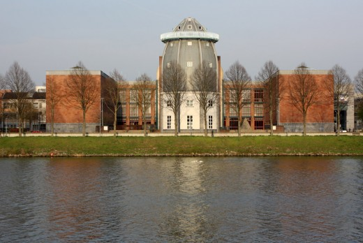The Bonnefanten Museum occupies a prime spot overlooking the Maas River