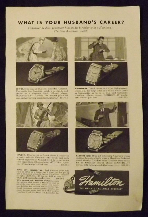 1947 Hamilton Watch Ad