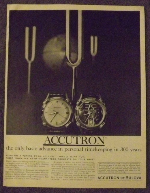 1961 Bulova Watch Ad