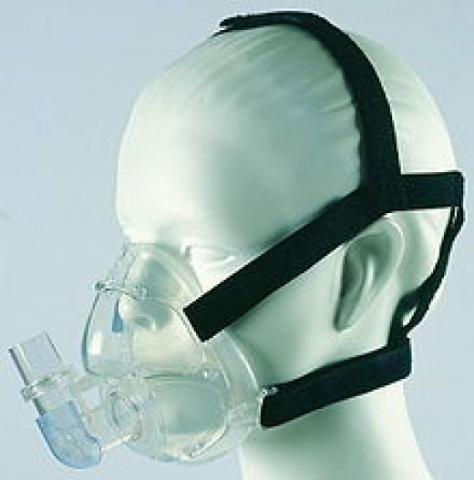 Standard CPAP Mask that fits over mouth and nose