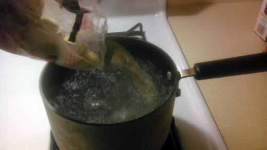 ... cook the tortellini...