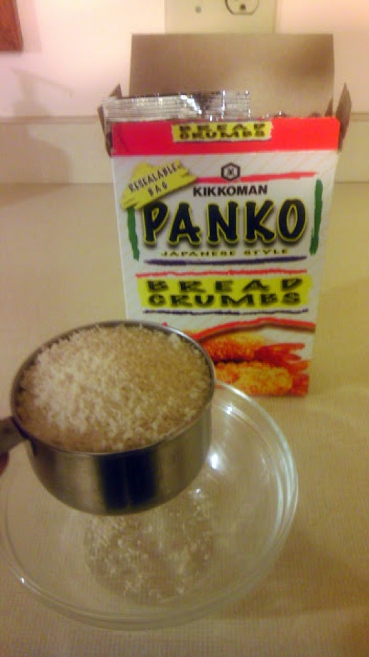 Mix the coating: One cup of panko...