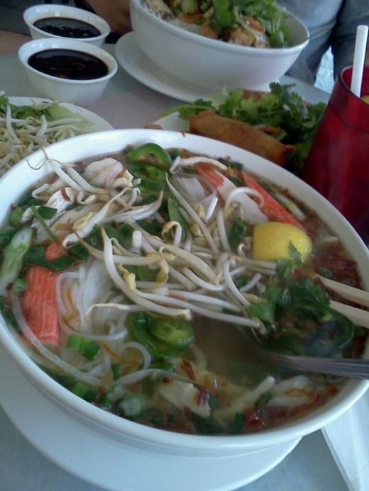 The seafood pho at 2000 Vietnam