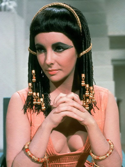 """Cleopatra is the original """"goddess."""" We don't know what she really looked like, but it's said her beauty wasn't as spectacular as her """"charisma."""" You go girl!"""