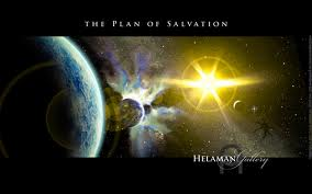 The painting is the Plan of Salvation. In it you'll see representations of premortal life, birth, mortality, spirit paradise and spirit prison, judgement and resurrection, and the Celestial, Terrestrial, and Telestial kingdoms.