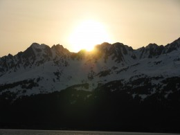 Sunset in Anchorage, Alaska