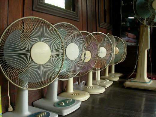 Invest in a few electric fans to keep you cooler this summer!