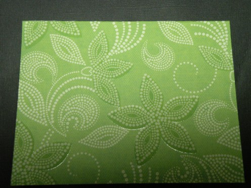 cardstock folded for a top fold card