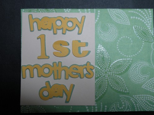 1st sentiment adhered to small cardstock piece