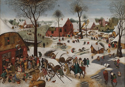"Pieter Brueghel the younger, ""Census at Bethlehem"" 1605-1610"