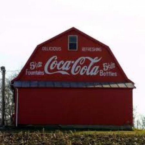 I AM A FAN OF OLD BARNS. ANYWHERE THERE IS A BARN, I WANT TO SEE IT. EVEN WITH COKE ADS ON THE TOP, I STILL LOVE OLD BARNS.