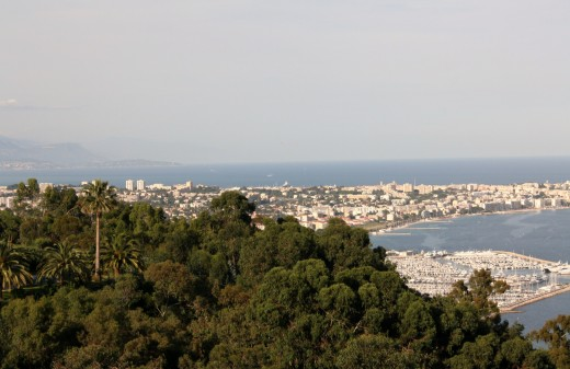 Antibes and Juan Les Pins from Haute Cannes