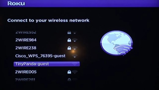 Select your wireless network.