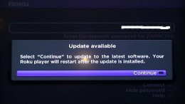 You'll have to install an update if one is available.