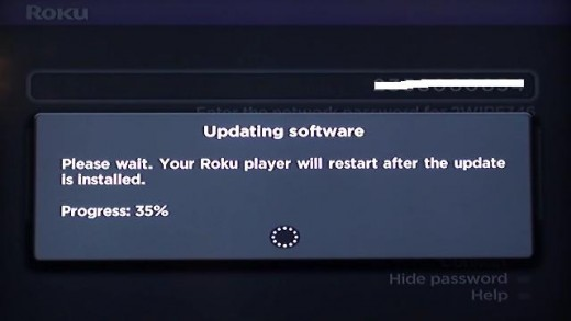 The progress of the update installation will be displayed.