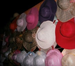 Hats that can be bought inside.