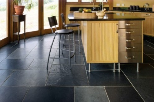 Slate tiles from Brazil are strong and have a wonderful surface texture. I have opted to go for a 'Roman Opus' pattern which gives a random look to the layout.