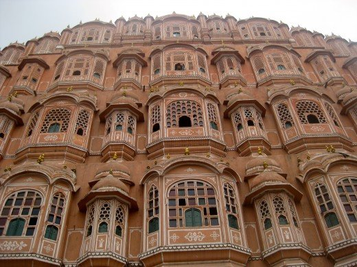 The Hawa Mahal from outside