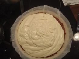 Pour this mixture on top of the crust.