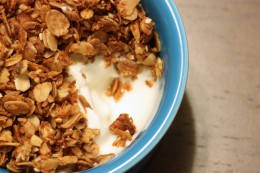 Bowl of Homemade Granola