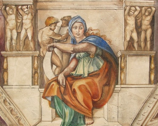 Michelangelo's Delphic Sybil at the Sistine Chapel