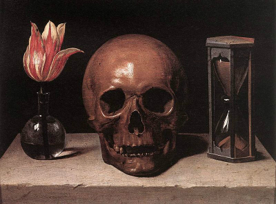 Life, Death and Time - painting by Philippe de Champaigne