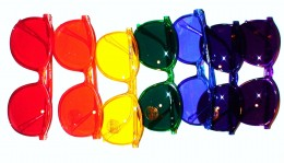 The colors of the rainbow in order are: red, orange, yellow, green, blue, indigo, and violet (purpoe).