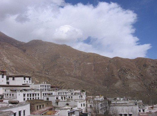 Drepung Monastery and the mountainous land of Tibet - Home of the Tulpas