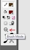 "Make sure the Brush Mode is set to ""Paint Fills"""