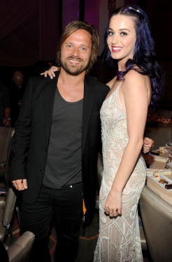 Max Martin and Katy Perry - Martin co-wrote Perry's E.T., Last Friday Night TGIF, Teenage Dream, The One That Got Away- photo credit/Frank Micelotta/Picture Group