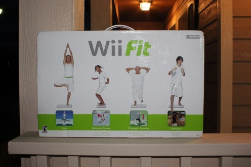 A Wii Fit, and add on to the Wii Nintendo that offers multiple games to keep in shape!