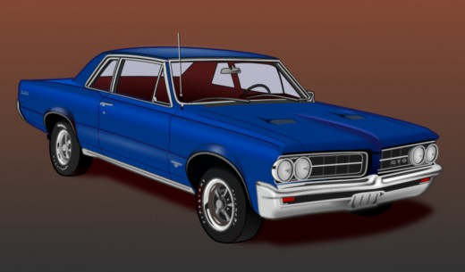 This '64 Pontiac GTO, one of my first efforts in using vector graphics software, is a work-in-progress.