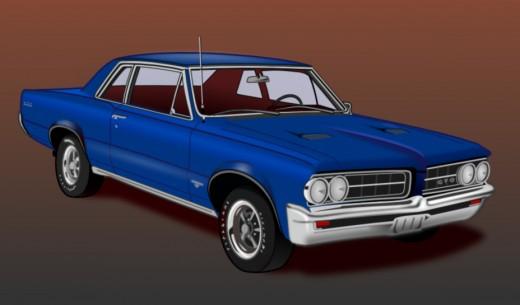 '64 Pontiac GTO. Illustration by Doc Sonic.